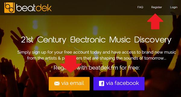 регистрация на Beatdek fm